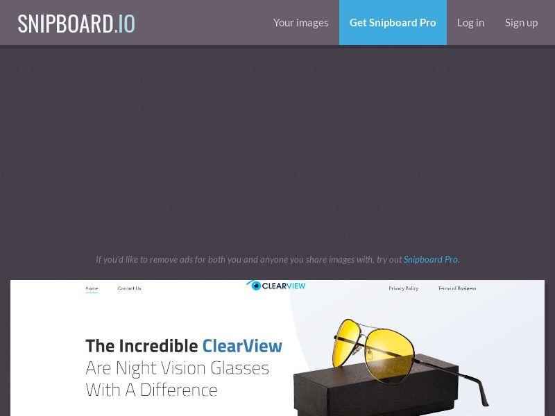 41536 - UK - US - AU - CA - NZ - ZA - E-Commerce - ClearView Night Vision Glasses (Driving) with prelander - UK, US, CA, AU, NZ, ZA - SS
