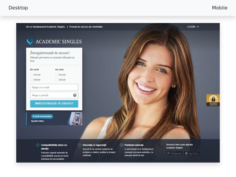 Academic Singles 30+ Desktop - CPL SOI - [RO]