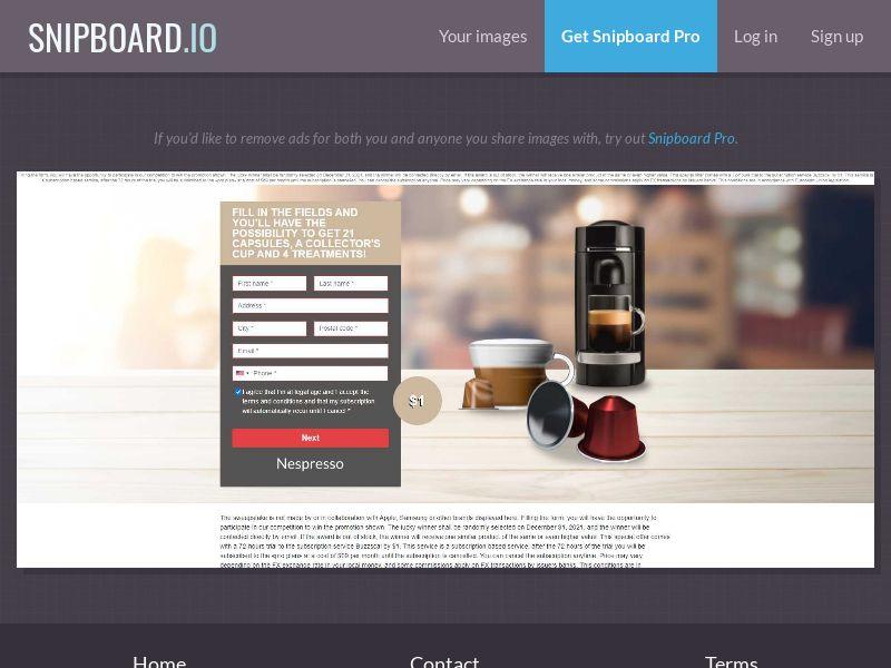 39679 - US - OrangeViral - B - Win a Nespresso - CC submit