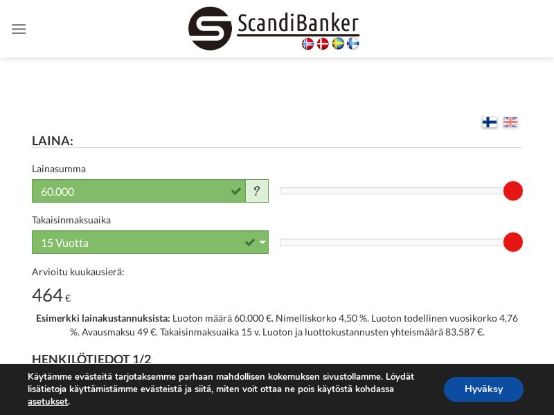 Scandibanker [FI] (Email,SMS,Banner,Native,Search) - CPA