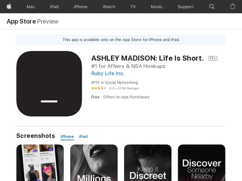 Ashley Madison iOS DE (CPS=purchase) <<*PENDING*PRIVATE OFFER*>>