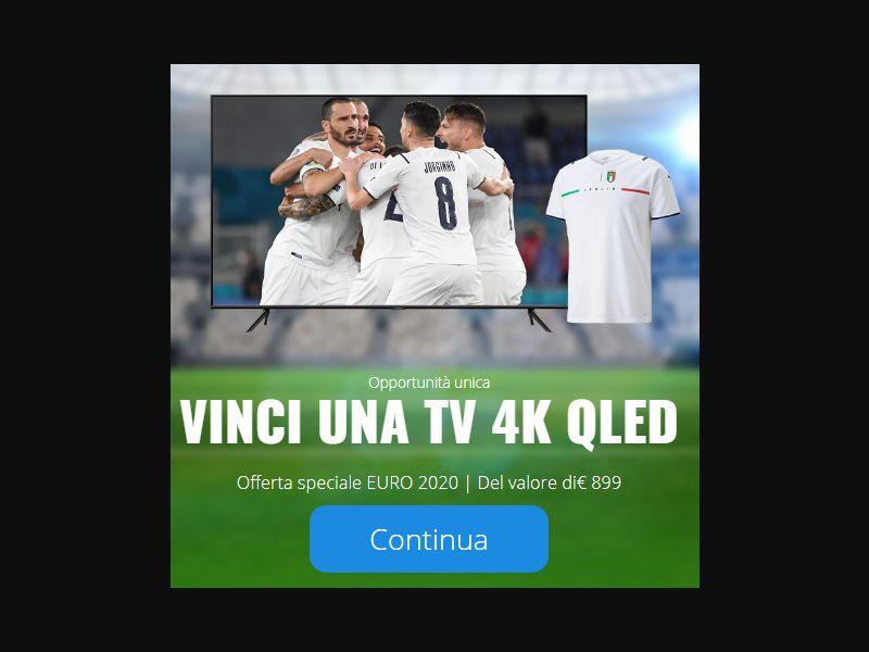 UK/ES/FR/BE/IT - Special EURO 2020 offer - WIN A 4K QLED TV [FR] - SOI registration