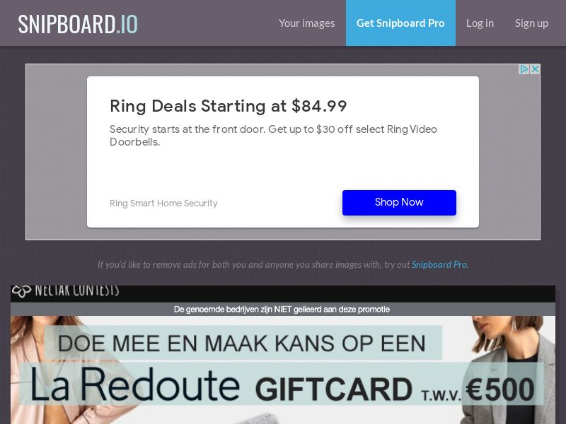 NectarContests - Cool La Redoute Giftcard $500 NL - SOI