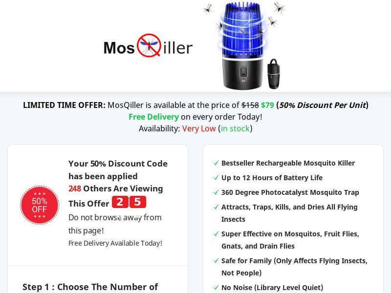 MosQiller – Rechargeable Outdoor Mosquito Killer