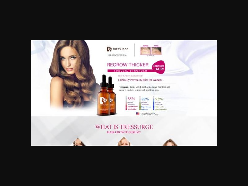 Tressurge - Hair Regrowth for Women (US)