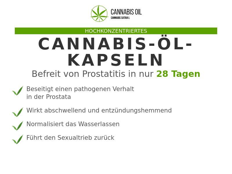 Cannabis Oil AT (prostatitis)