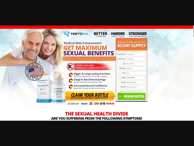 Testoryl - Male Enhancement - SS - NO SEO - [US]