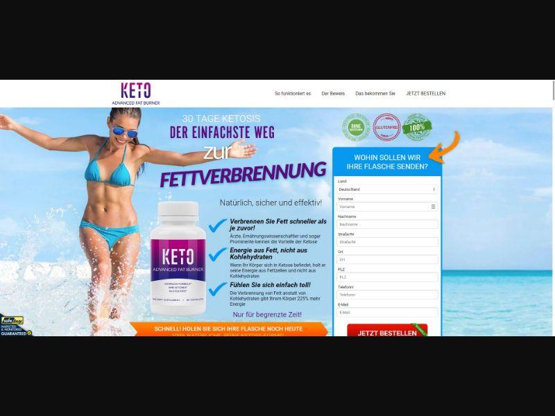Keto Advanced Fat Burner - Diet & Weight Loss - SS - [DE]