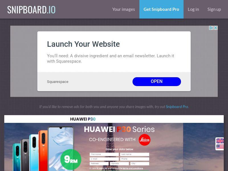 BigEntry - Huawei P30 MY v1 - CC Submit