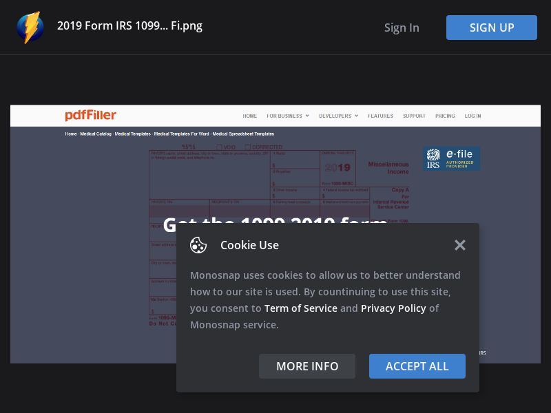 Singapore (SG) - PDF Filler - Form IRS 1099 (Responsive)