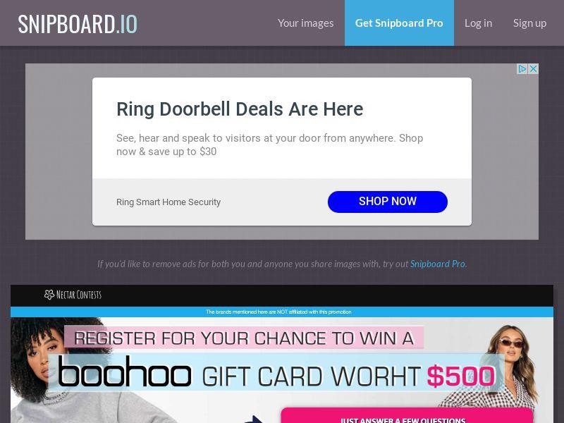 NectarContests - Boohoo Giftcard $500 NL - SOI