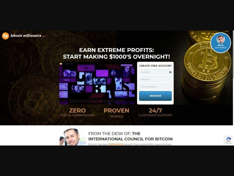 Bitcoin Millionaire Pro - $250 min CTC - VSL - Crypto - SS - [67 GEOs]