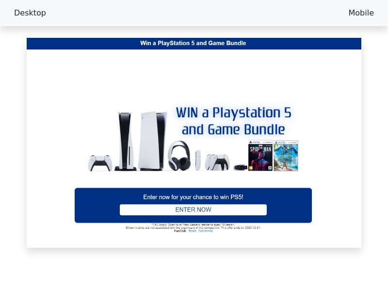 Playstation 5 and game bundle - CPL/SOI - [NZ]