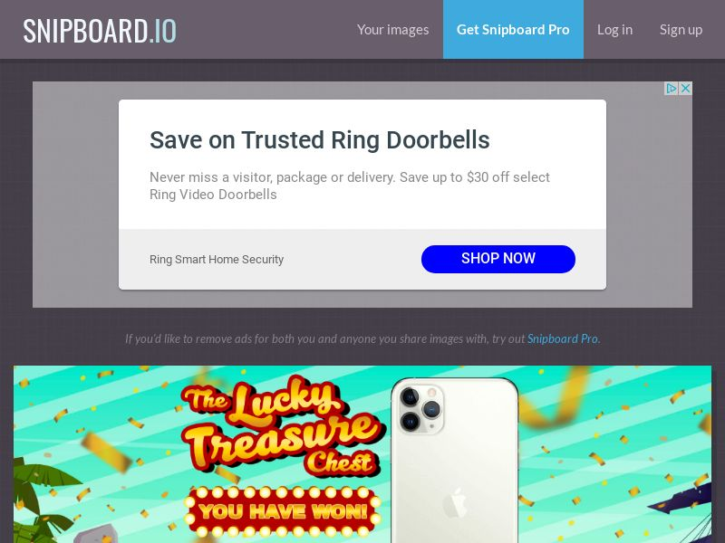 AbsoluteWinner - iPhone 11 Pro (Lucky Treasure Chest no game) US - CC Submit