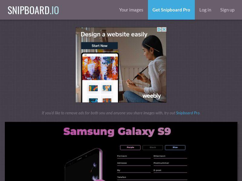 BigEntry - Samsung Galaxy S9 NO - CC Submit