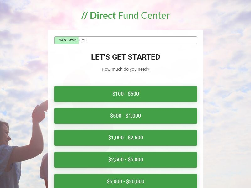 Direct Fund Center - Payday, Installment, and Personal Loans (RevShare)