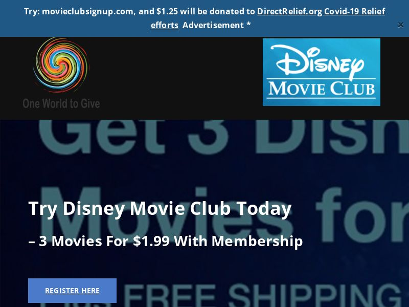 One World To Give's - Movie Club (US) (CPS) (Personal Approval)