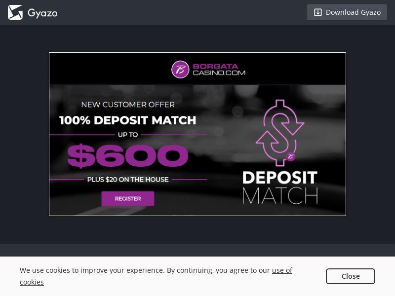 Borgata Sports NJ ONLY (Desktop/Mobile Web/iOS)   CPL