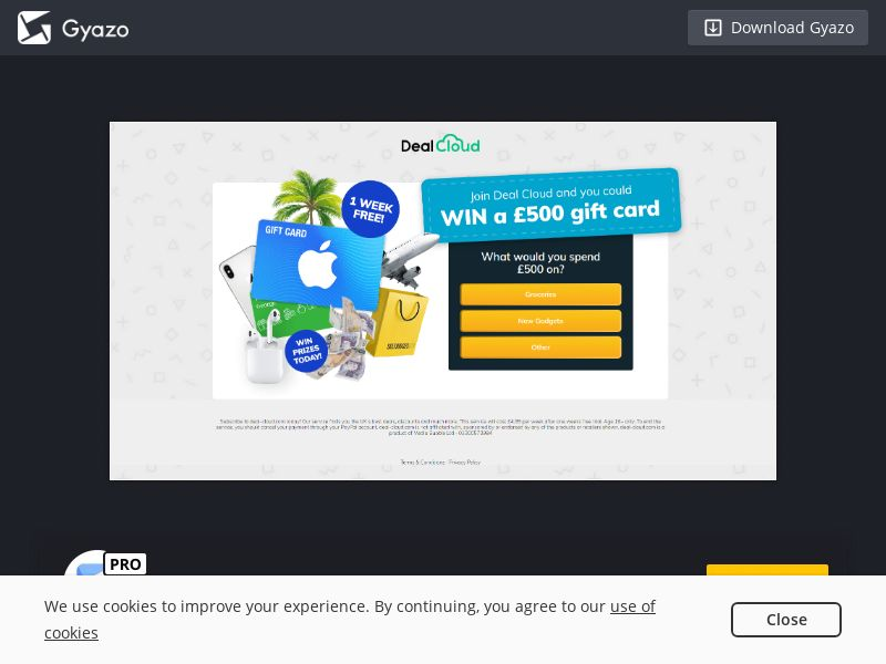 Apple giftgard 500 GBP DealCloud UK | PayPal submit