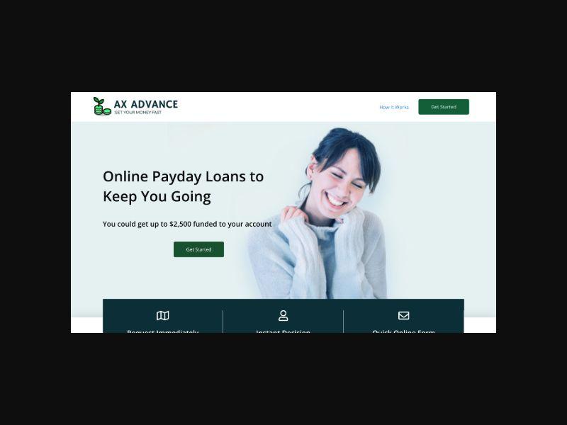AXADVANCE.COM - Easy Loans CPA