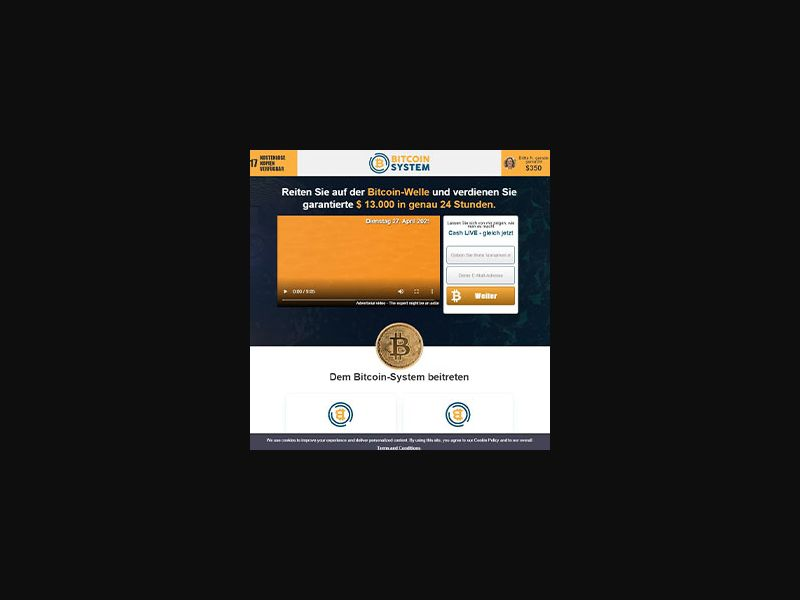 Bitcoin System 2 [DE,CH,AT,CA,AU] (Email,Banner,Native,Social) - CPA