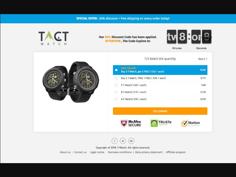 T-Watch - CPS - WW - eCommerce - Responsive