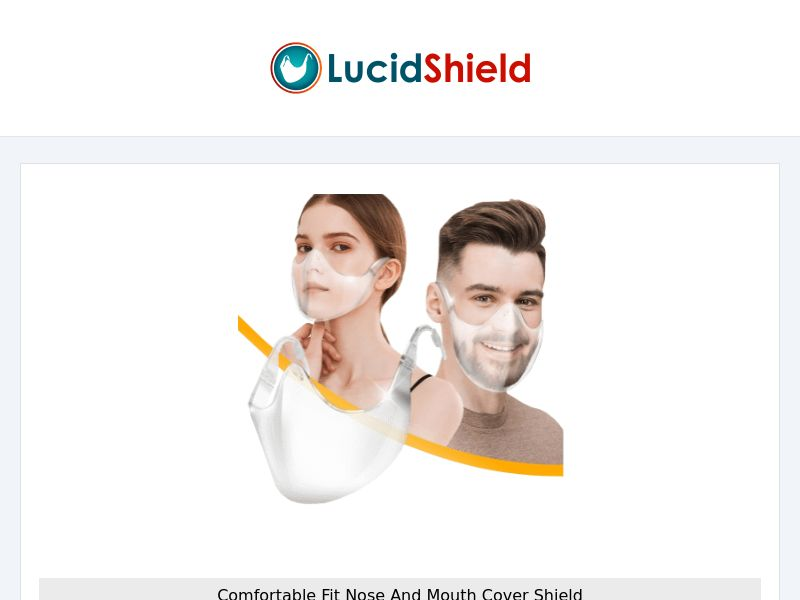 LucidShield - Transparent Protection Mask - CPA - [INTERNATIONAL]