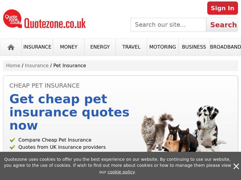 QuoteZone - Compare Pet Insurance - CPL (UK)