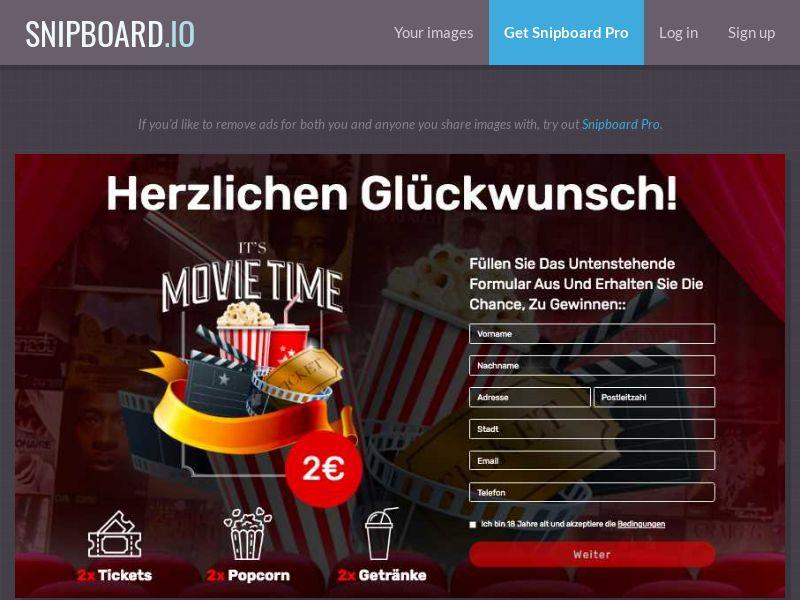 BigEntry - Cinema Giftcard v1 DE/AT - CC Submit