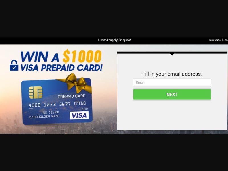 Win Visa $1000 [US] - SOI registration