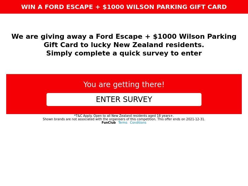 xlWin - Win a Ford Escape [NZ]