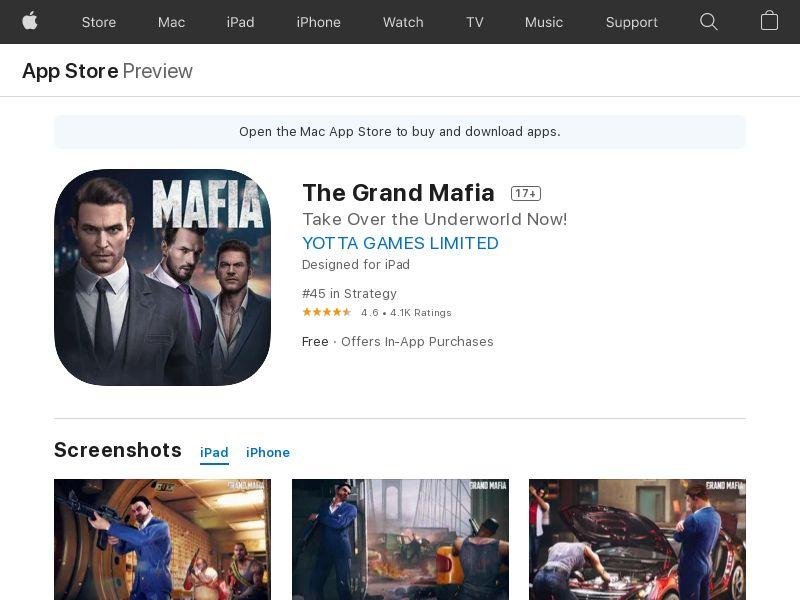 The Grand Mafia - iOS CPE - US