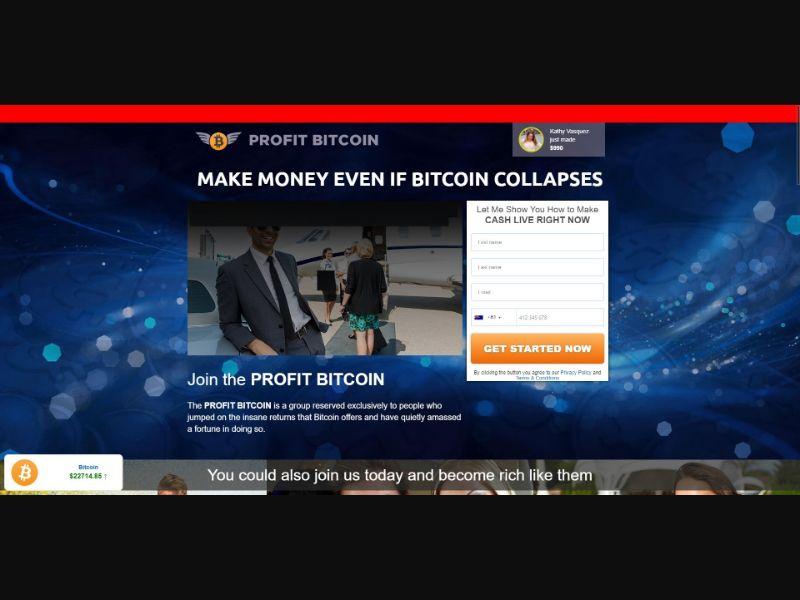 Profit Bitcoin - $200 min CTC - VSL - Crypto - SS - [16 GEOs]