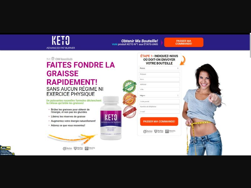 Keto Advanced Fat Burner - Diet & Weight Loss - SS - [FR, CH, BE]
