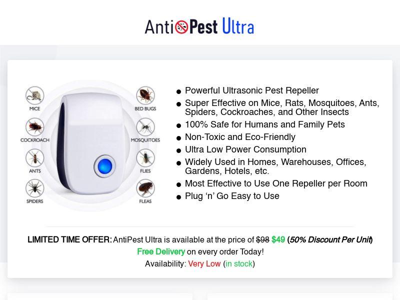 AntiPest Ultra - Powerful Ultrasonic Pest Repeller (PPS) - eCommerce - WW