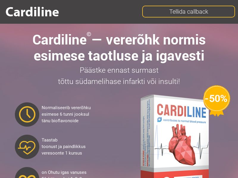 Cardiline EE - pressure stabilizing product