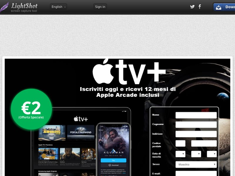 Minatore Apple TV+ & Arcade (Streaming) (CC Trial) - Italy