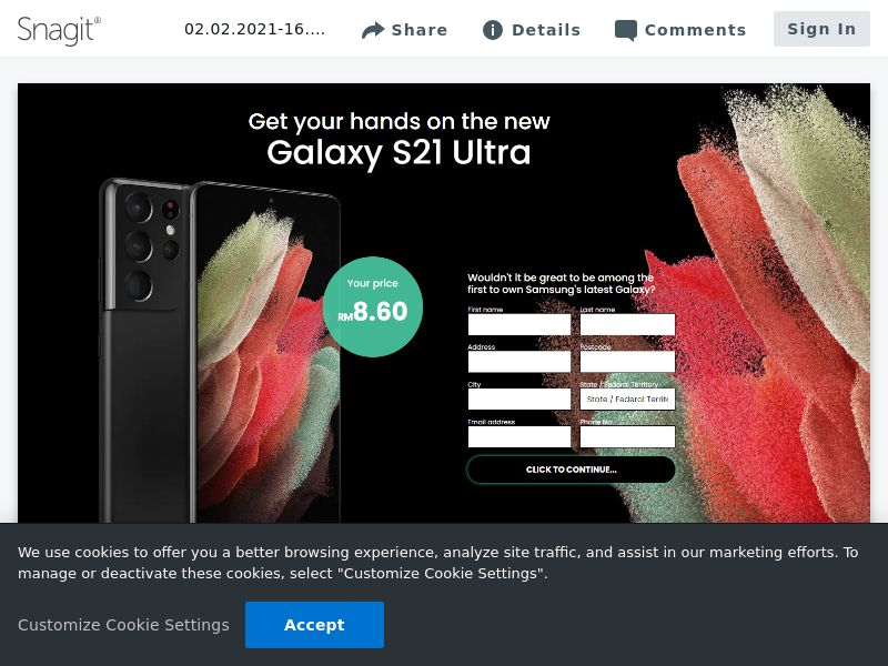 feelinglucky Samsung Galaxy S21 Ultra | MY