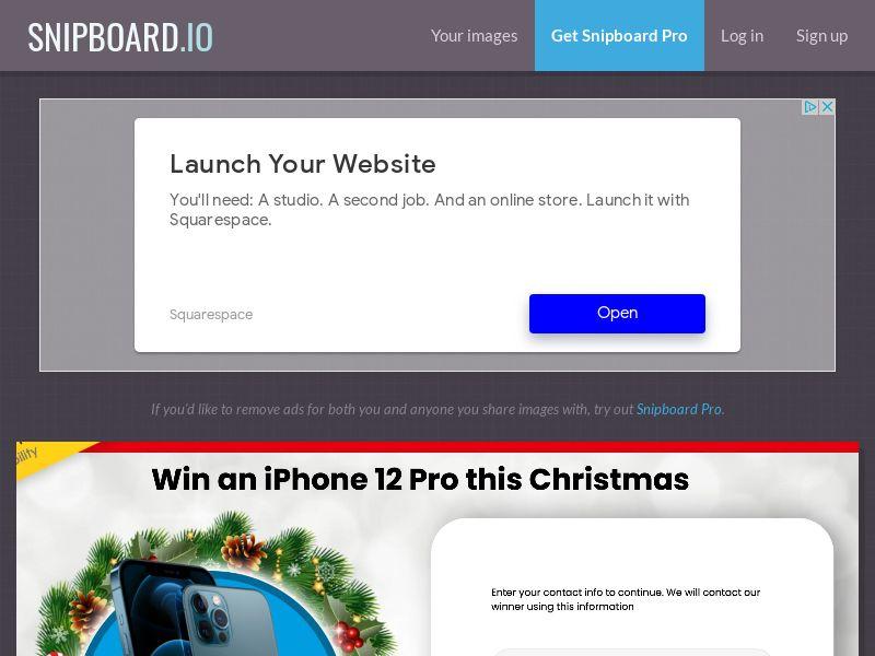 YouSweeps - Win iphone 12 pro christmas US - SOI