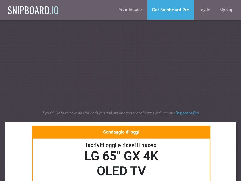 "40018 - IT - Lotto24 - LG 65"" GX 4K OLED TV cap 200 - CC submit"