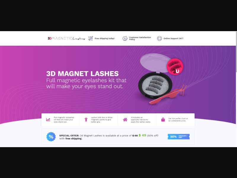 3D Magnet Lashes - Beauty - SS - [143 GEOs]