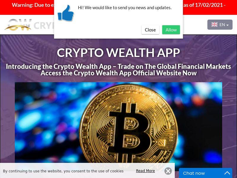 Crypto Wealth App Finnish 2463