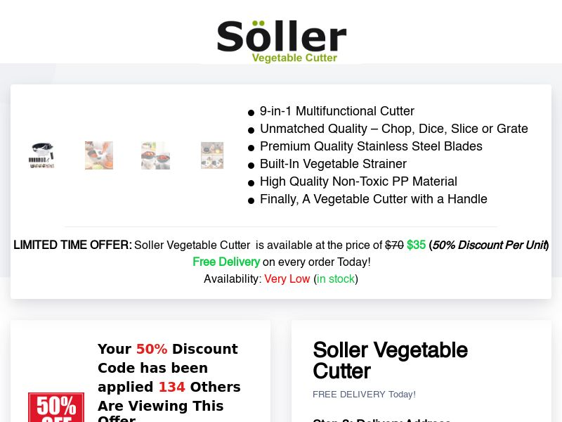 Soller – Premium 9-in-1 Multifunctional Cutter with A Handle