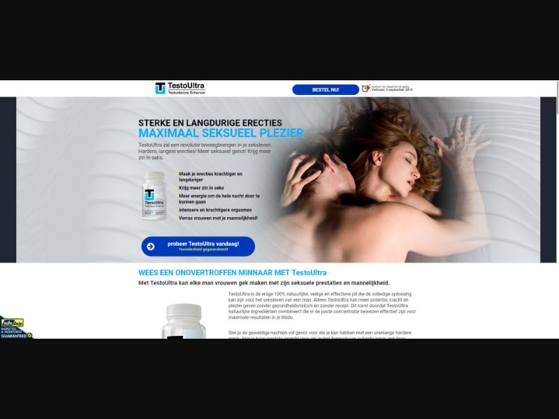 TestoUltra Testosterone Enhancer - Male Enhancement - SS - [NL]
