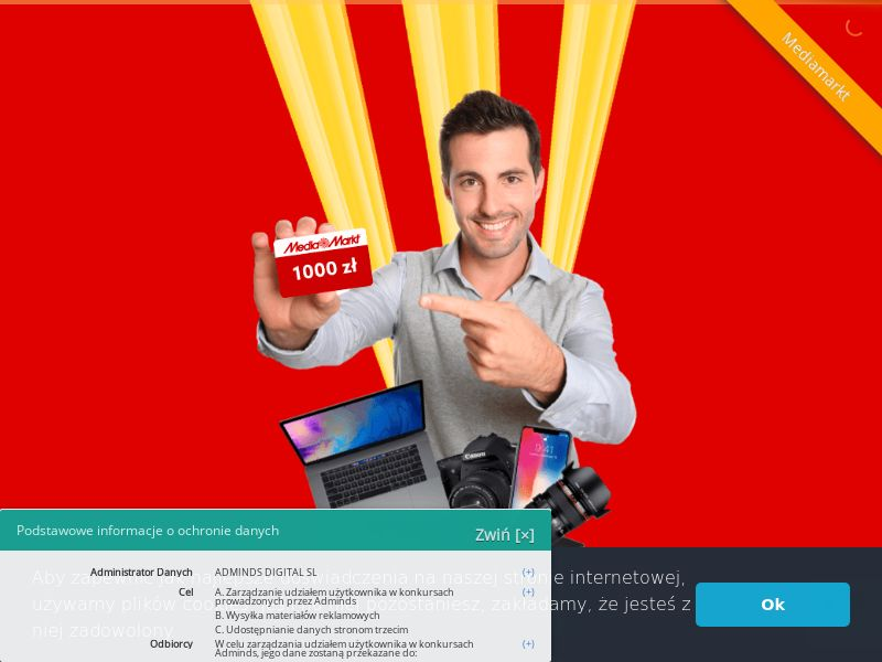 Media Markt - karta podarunkowa 1000zł (PL), [CPL], Lotteries and Contests, Appliances and Electronics, Hardware, Telephones and accessories, Audio and video, Household goods, Single Opt-In, paypal, survey, gift, gift card, free, amazon, shop, gift