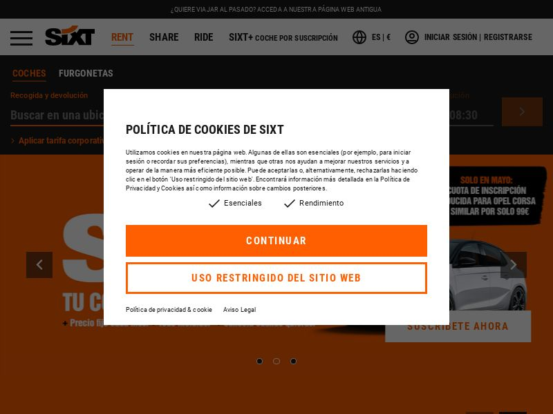 Sixt - ES (ES), [CPA | CPS]