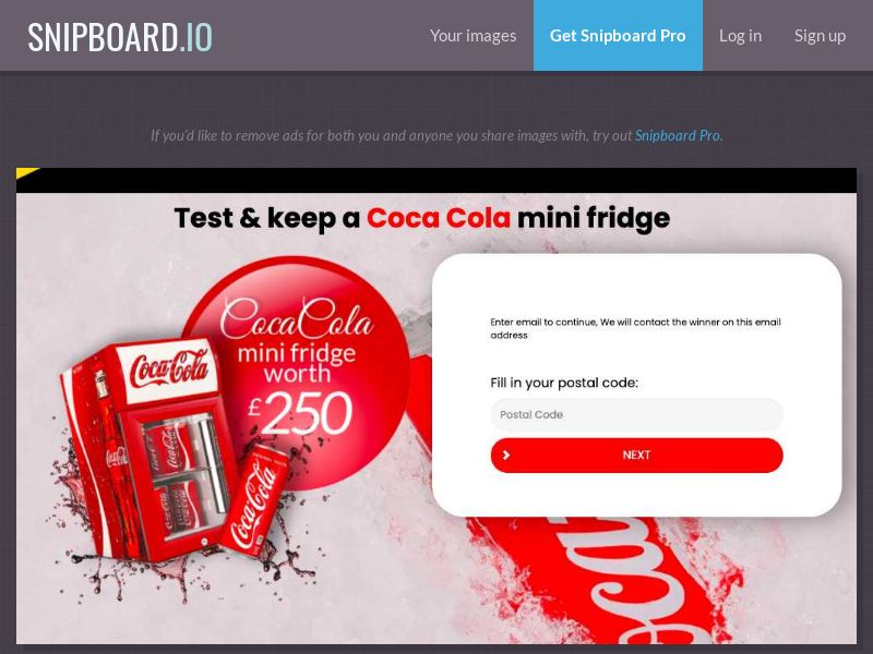 38437 - UK - FORYOUPROMO - Coca Cola Mini Fridge - SOI