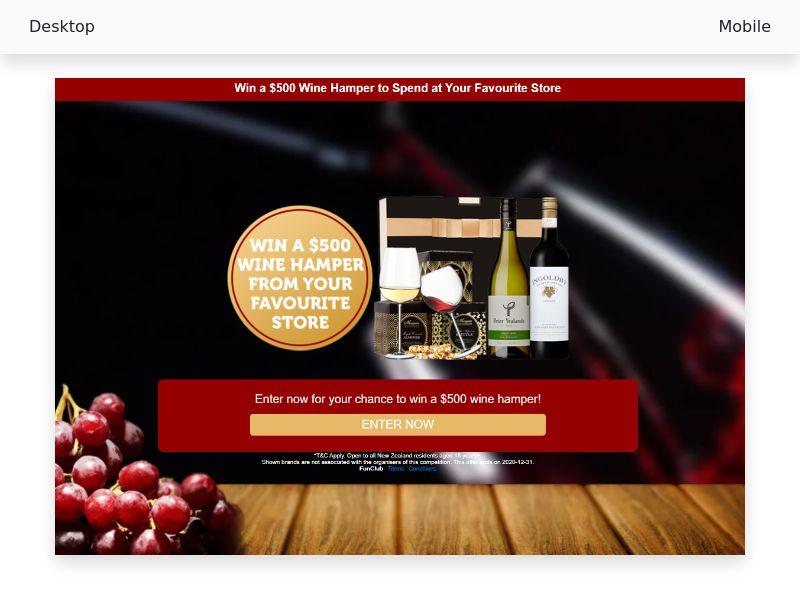 $500 Wine Hamper - CPL/SOI - [NZ]