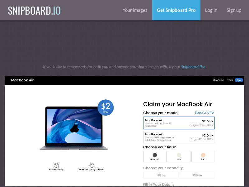 42353 - IT - SmartTest - MacBook Air- Color Choose - CC submit