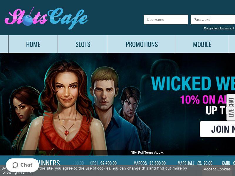 Slotscafe.com RevShare - UK, DE, AUS, CA & NZ